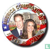 America congratulates Kate & Wills