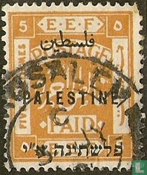 E.E.F. (Egyptian Expeditionary Forces), met opdruk
