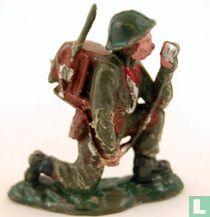 Britse infanterist, verbindingsman