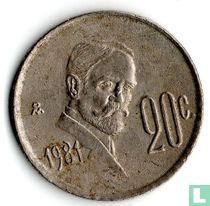 Mexico 20 centavos 1981 (open 8)