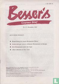 Besser's Gourmet Brief 12