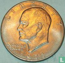 Vereinigte Staaten 1 Dollar 1971 (Kupfer mit Nickel-Kupfer verkleidet - ohne Buchstabe)