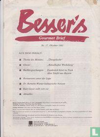 Besser's Gourmet Brief 17