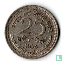 India 25 paise 1964 (Calcutta)