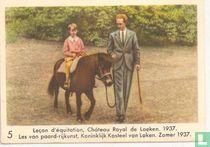 Les van paard-rijkunst, Koninklijk Kasteel van Laken. Zomer 1937
