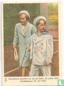 Handbalspel. 23 juli 1937