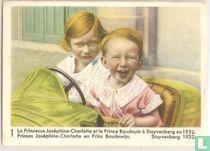 Prinses Joséphine-Charlotte en Prins Boudewijn. Stuyvenberg 1932