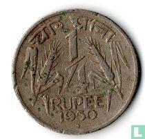 India ¼ rupee 1950 (Bombay)