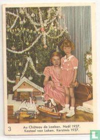 Kasteel van Laken. Kerstmis 1937