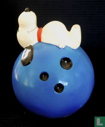 Snoopy on Blue Bowling Ball (Sport Ball Series)