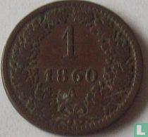 Austria 1 kreuzer 1860 (A)