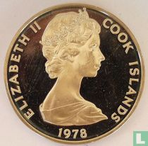 "Cookeilanden 1 dollar 1978 (PROOF) ""250th anniversary Birth of James Cook"""
