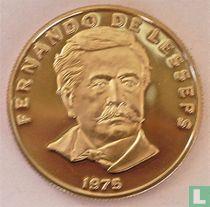 """Panama 50 centesimos 1975 (PROOF) """"Fernando de Lesseps"""""""