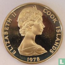 "Cookeilanden 20 cents 1978 (PROOF) ""250th anniversary Birth of James Cook"""