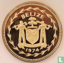 "Belize 10 dollars 1974 (PROOF - koper-nikkel) ""Great curassow"""