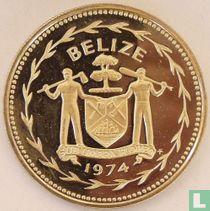 """Belize 1 dollar 1974 (PROOF - koper-nikkel) """"Scarlet macaw"""""""