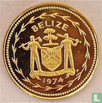 "Belize 5 cents 1974 (PROOF - nikkel-messing) ""Fork-tailed flycatchers"""