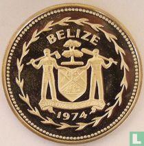 "Belize 5 dollars 1974 (PROOF - koper-nikkel) ""Keel-billed toucan"""