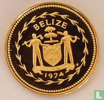 """Belize 1 cent 1974 (PROOF - brons) """"Swallow-tailed kite"""""""