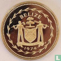 """Belize 50 cents 1974 (PROOF - koper-nikkel) """"Frigate birds"""""""
