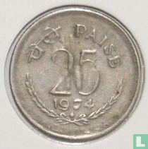 India 25 paise 1974 (Hyderabad)