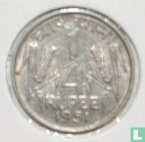 India ¼ rupee 1951 (Calcutta)