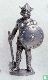 Viking met bijl en schild (ijzer)