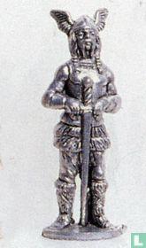 Viking met slagzwaard (ijzer)