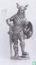 Viking met zwaard en schild (ijzer)