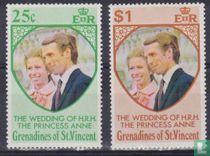 Prinses Anne en Mark Phillips- Huwelijk