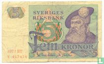 Schweden 5 Kronor 1977