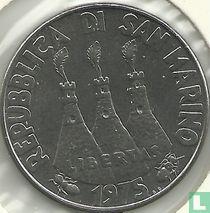 "San Marino 100 lire 1975 ""Cat and dog"""