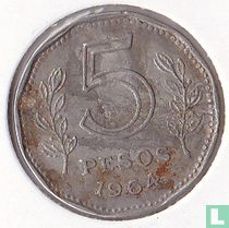 Argentinië 5 pesos 1964