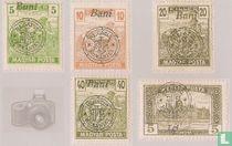 Opdruk op Hongaarse zegels van 1919