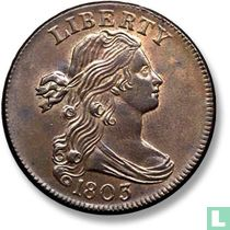 """Verenigde Staten 1 cent 1803 """"Small date, small fraction"""""""