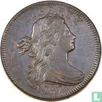 Verenigde Staten 1 cent 1797 keerzijde van 1797 (zijtakken)