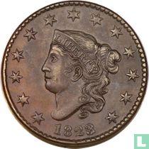Verenigde Staten 1 cent 1823 (23 over 22)