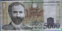 Armenië 5000 Dram 2009