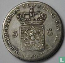 Netherlands 3 guden 1823 (B)