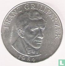 """Austria 25 schilling 1964 """"Franz Grillparzer"""""""