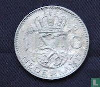Nederland 1 gulden 1956 (defect muntplaatje)