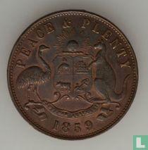 Australië Peace penny 1859