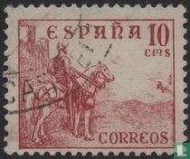 El Cid on horseback.