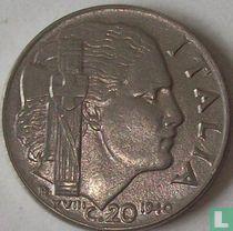 Italien 20 Centesimi 1940 (magnetisch - Kerben)