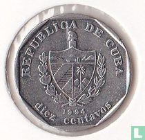 Cuba 10 convertible centavos 1994