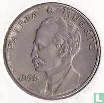 "Cuba 20 centavos 1968 ""José Marti"""