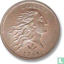 Verenigde Staten 1 cent 1793 Flowing hair, wreath reverse)