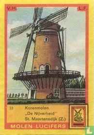 """Korenmolen """"De Nijverheid"""" St. Maartensdijk"""