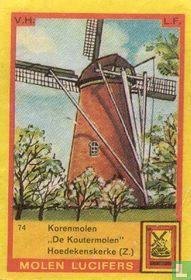 """Korenmolen """"De Koutermolen"""" Hoedekenskerke (Z.)"""
