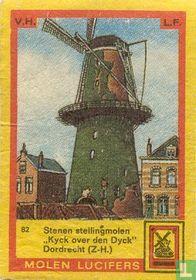 """Stenen Stellingmolen """"Kyck over den Dyck"""" Dordrecht (Z.H.)"""